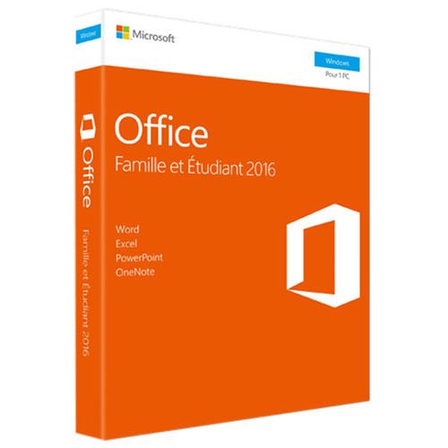 Microsoft Office Famille et Étudiant 2016 pour PC - Français