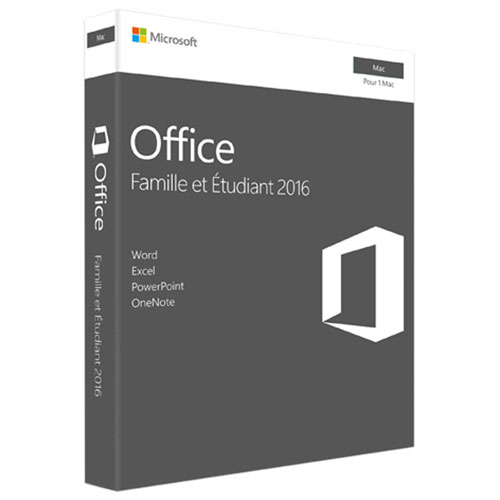 Microsoft Office Home & Student 2016 (Mac) - French