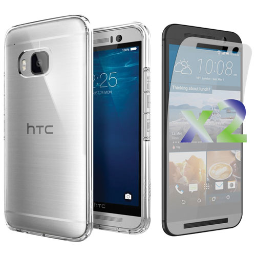 Exian One M9 Fitted Soft Shell Case with Screen Protector - Clear