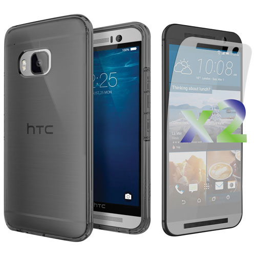 Exian One M9 Fitted Soft Shell Case with Screen Protector - Grey