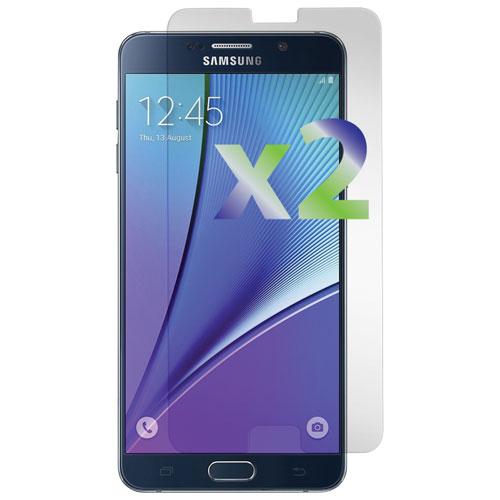 Protecteur d'écran d'Exian pour Galaxy Note 5 de Samsung - Transparent