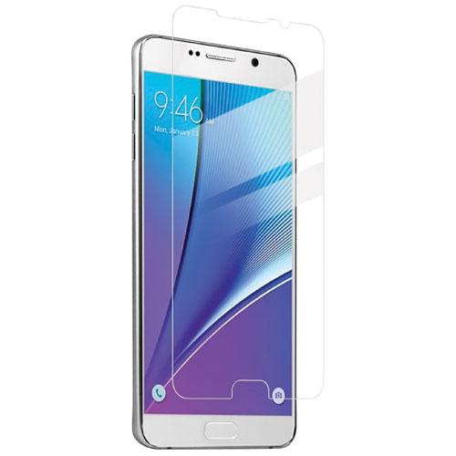 Protecteur d'écran en verre d'Exian pour Galaxy Note 5 de Samsung - Transparent