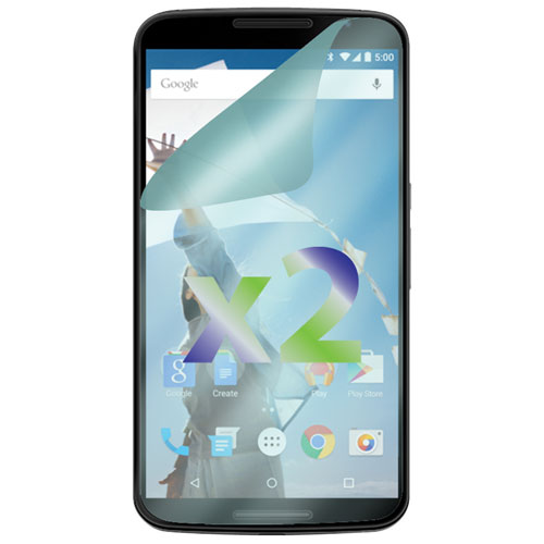 Protecteur d'écran d'Exian pour Nexus 6 de Google - Paquet de 2