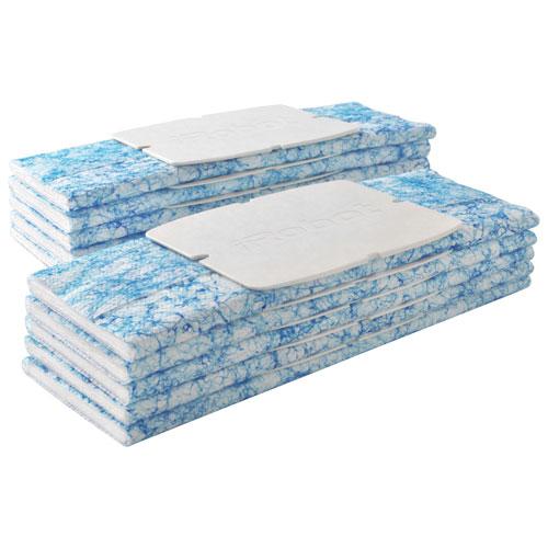 Chiffons de nettoyage humides pour Braava jet d'iRobot - Paquet de 10 - Bleu