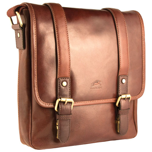 """Mancini Calabria 10"""" Crossover Tablet Bag - Brown"""