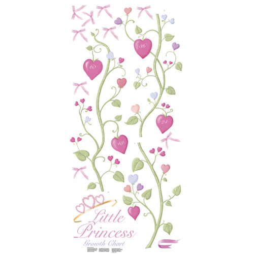Roommates Fairy Princess Peel And Stick Growth Chart Pink