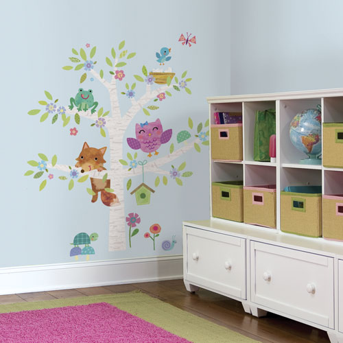 RoomMates Woodland Baby Birch Tree Giant Peel & Stick Wall Decals ...