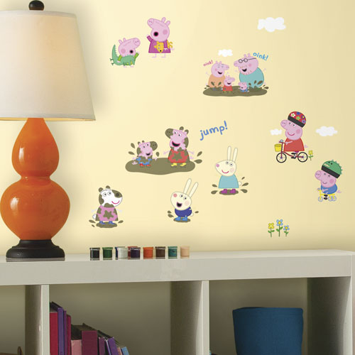 RoomMates Peppa Pig Wall Decal PinkBlue Wall Décor Borders - Portal 2 wall decalsbest wall decals images on pinterest