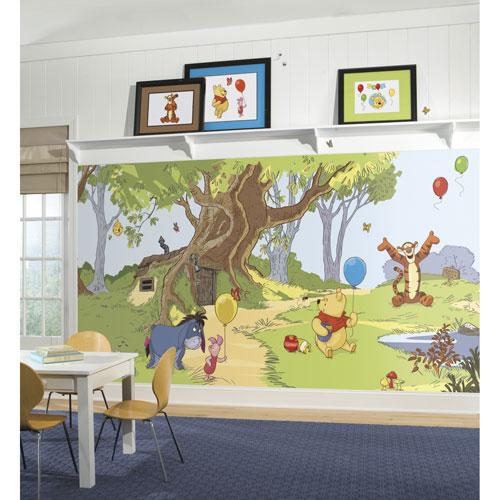 Très grande murale en papier peint de RoomMates - Winnie et ses amis