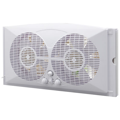 ecohouzng twin window fan 9 white fans best buy