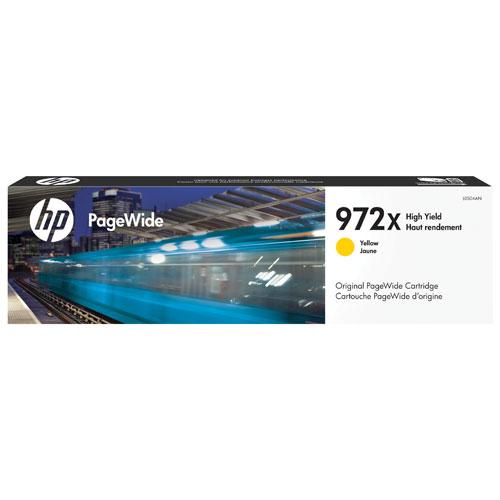 Cartouche d'encre jaune à haut rendement PageWide 972X de HP