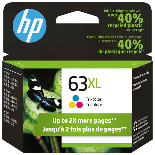 HP 63XL Tri-Colour Ink