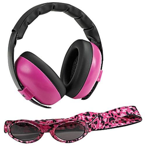 25c203b3f8991f Cache-oreilles et lunettes de soleil de Baby Banz - 0 à 2 ans - Rose    Casques antibruit pour bébés - Best Buy Canada