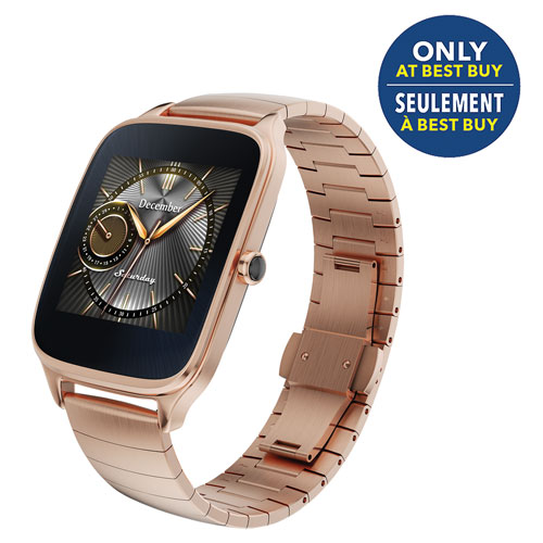 "ASUS ZenWatch 2 1.63"" Smartwatch - Rose Gold - Only at Best Buy"