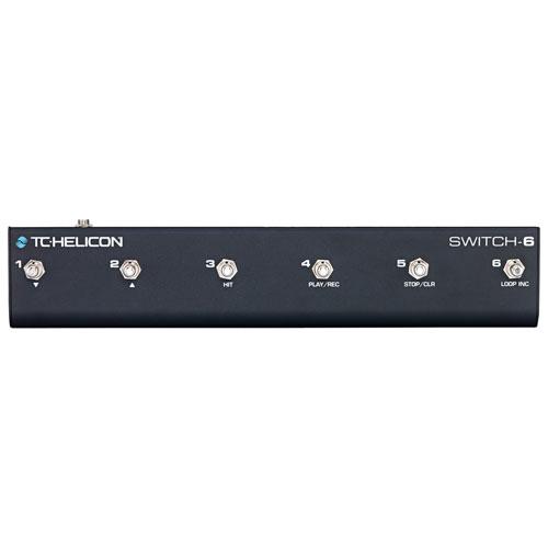 Pédale de guitare multi-effets Switch-6 de TC-Helicon