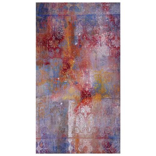 Tapis plat de 3 x 5 pi Sabzevar - Multicolore