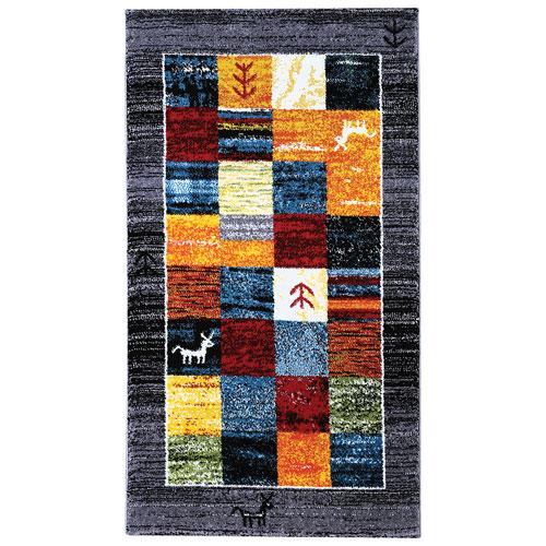 Tapis de 5 x 8 pi Gabbeh - Multicolore