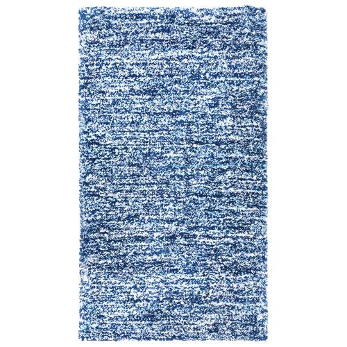 Tapis à poils longs 7 x 10 pi Maya de la collection Shaughnessy - Bleu marine