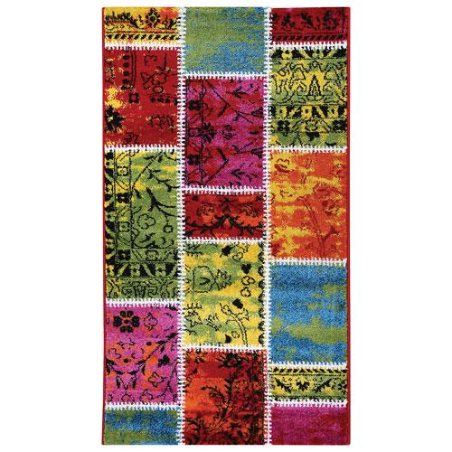 Tapis de 4 x 6 pi Afshar - Multicolore