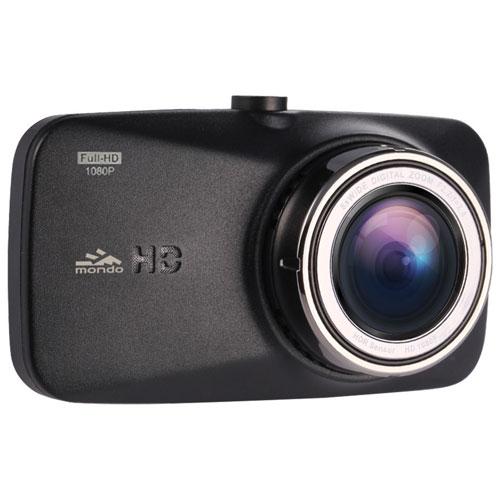 Caméra de tableau de bord HD intégrale de Mondo avec écran ACL 2,7 po et microSD de 4 Go (TMD-740)