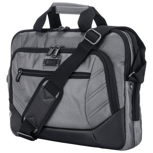 """Kenneth Cole Castlerock 15.6"""" Laptop Messenger Bag - Charcoal/Black"""