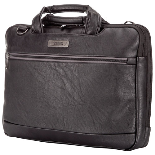 """Kenneth Cole """"Go With The Grain"""" Collection 16"""" Laptop Bag - Black"""