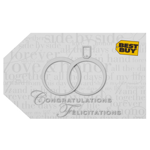 Best Buy Wedding Gift Card - $250