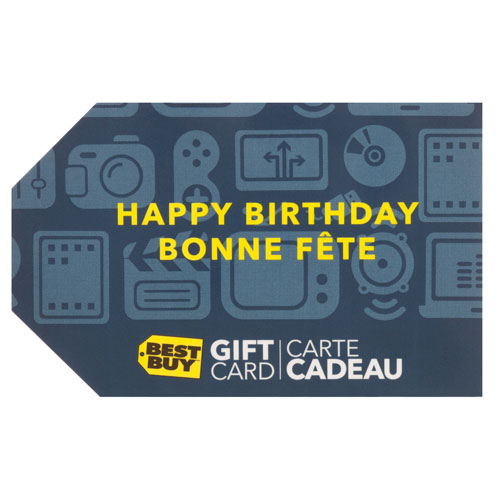 Best Buy Birthday Gift Card