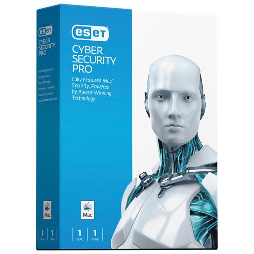 Cyber Security Pro d'ESET (Mac) - 1 utilisateur - 1 an