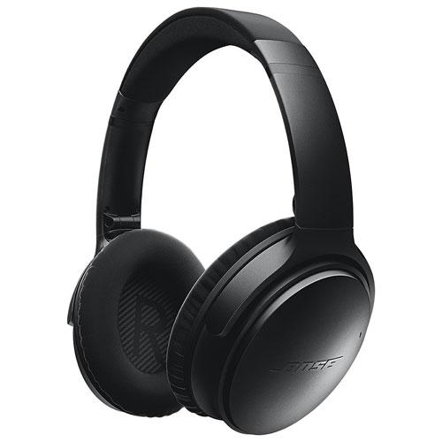 bose wireless headphones noise cancelling. bose quietcomfort 35 over-ear noise cancelling wireless headphones - black : best buy canada