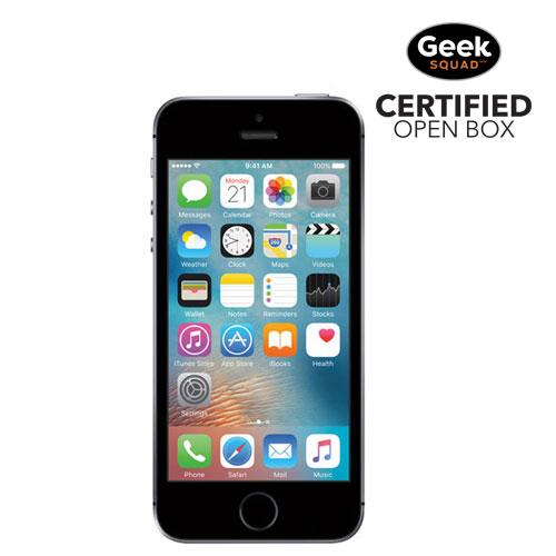iPhone SE de 16 Go d'Apple - Gris cosmique - Carte SIM verrouillée par fournisseur - Boîte ouverte