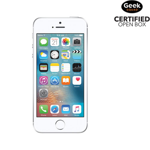 iPhone SE de 64 Go d'Apple - Argenté - Carte SIM verrouillée par fournisseur - Boîte ouverte