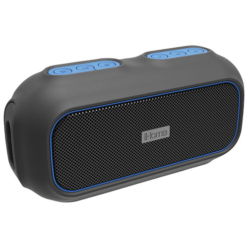 iHome Waterproof Bluetooth Wireless Speaker (IBT9BLC) - Black/Blue