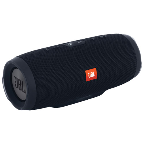 bluetooth speakers best buy. jbl charge 3 waterproof wireless bluetooth speaker - black : portable speakers best buy canada