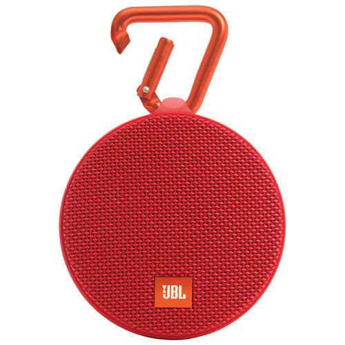 JBL Clip 2 Waterproof Wireless Bluetooth Speaker - Red
