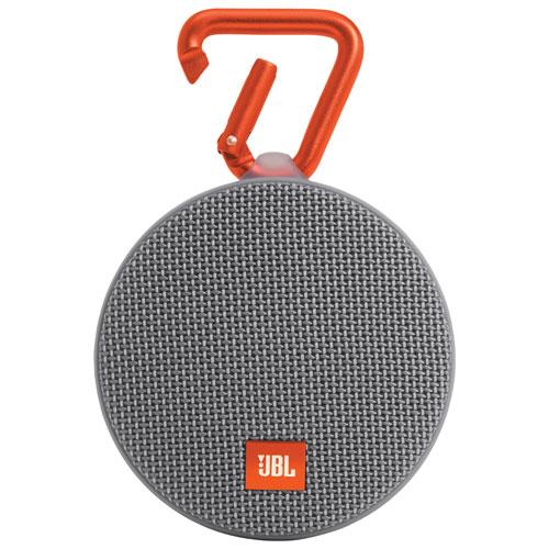 JBL Clip 2 Waterproof Wireless Bluetooth Speaker - Grey