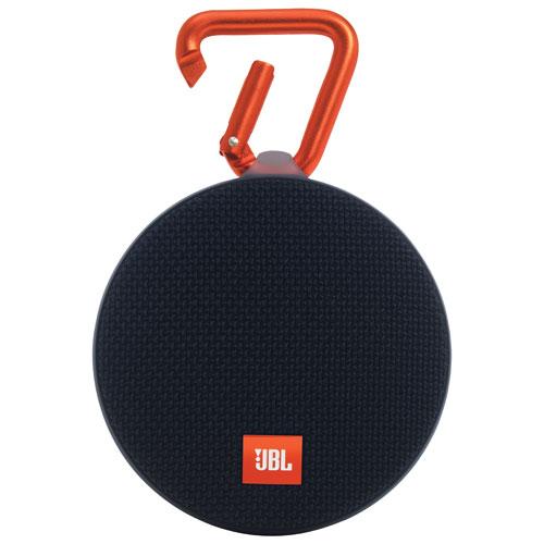 Haut-parleur sans fil Bluetooth étanche Clip 2 de JBL - Noir