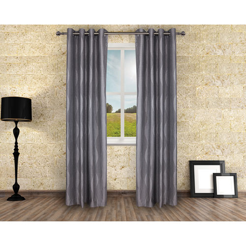 Gouchee Design Roxanne Curtain - 2 Pack - Grey