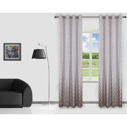 Gouchee Design Brielle Curtain - 2 Pack - Grey