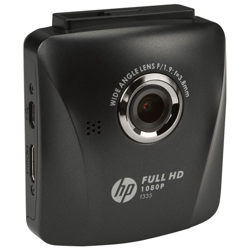 "HP Car Camcorder f335 1080p Dashcam with 2.4"" LCD Screen"