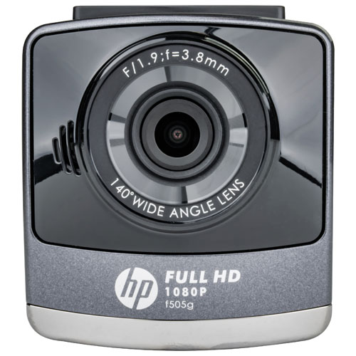 """HP Car Camcorder f505g 1080p Dashcam with 2.4"""" LCD Screen and GPS"""