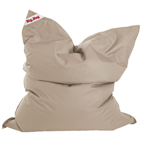 Sitting Point Brava Contemporary Bean Bag Chair - Khaki