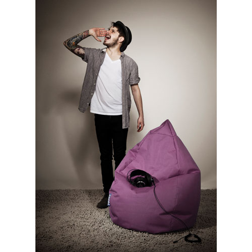 Sitting Point Brava XL Contemporary Bean Bag Chair - Aubergine