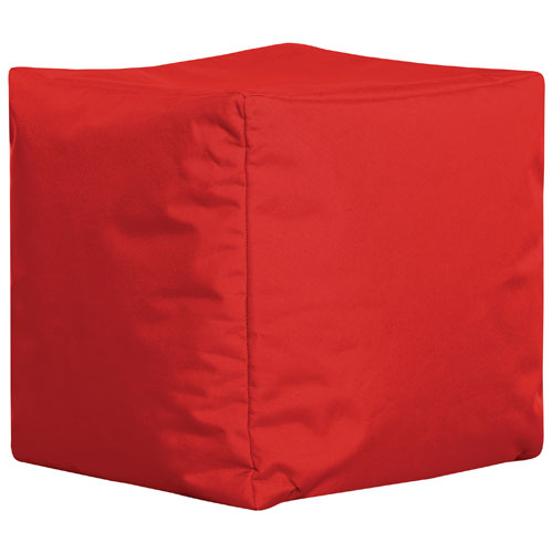 Fauteuil poire cube contemporain Brava de Sitting point - Rouge