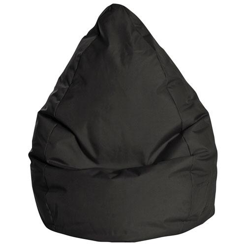 Fauteuil poire contemporain Brava XL de Sitting Point - Noir
