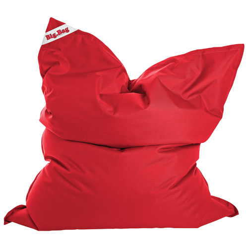 Sitting Point Brava Contemporary Bean Bag Chair - Red