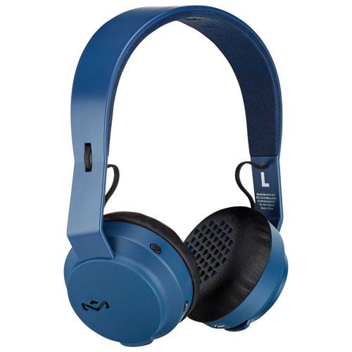 Écouteurs serre-tête Bluetooth Rebel de House of Marley (EM-JH101-NV) - Bleu marine