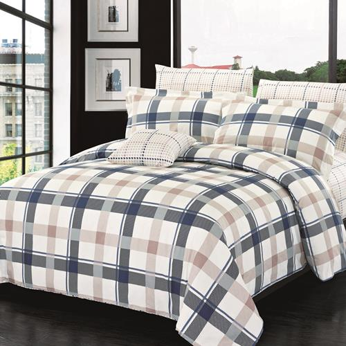 North Home Burton 100% Cotton 4 PC Duvet Cover Set(queen )