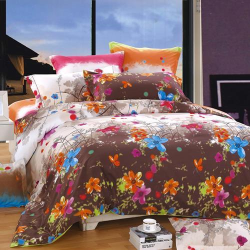 North Home Blossom 100% Cotton 4pc Duvet Cover Set (King)