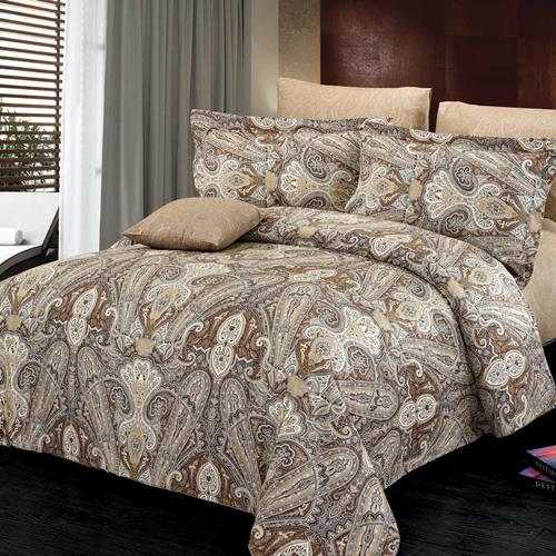 North Home Concord 100% Cotton 4 PC Duvet Cover Set (queen )